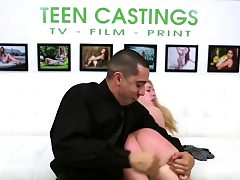 Brutal casting for squirting ballgagged teenage