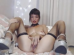 Baby Suicide - Lengthy dildo, Little fist, Creamy pussy