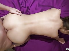 German Youthful Duo in Amateur Porno with Real Chick Orgasm
