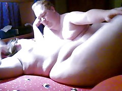 Plus-size and BHM having some fun in the bedroom