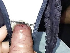 Gf making me cum in her fave thong