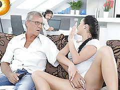 DADDY4K. Cumshot in hatch culminates nice fuck-a-thon of dad and..