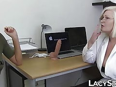 Doctor Lacey Starr examines 18yo with tongue and playthings