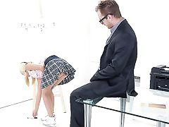Her mounds alone were enough to make Veronika's tricky senior teacher want to rip up her brains out