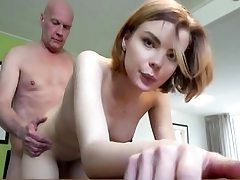 Young babe gets fucked hard by old fellow